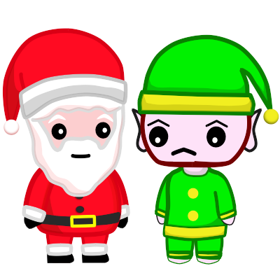 Image of Santa and Evil Elf