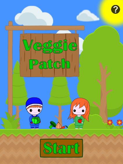 Screenshot of Veggie Patch game start
